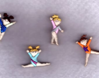 Tiny Tumblers  Novelty Buttons by Jesse James -- 4 pcs