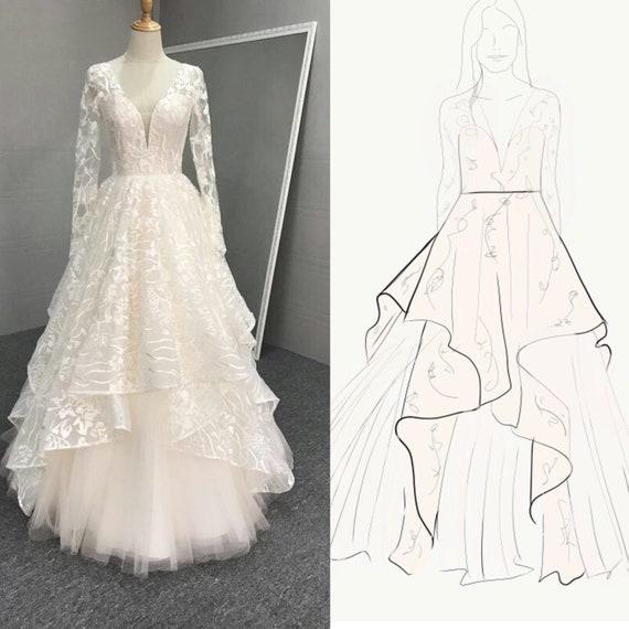 Custom Wedding Dresses | Etsy