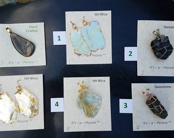 Pendants to choose from, just order by the number each is 34.95 - Golden Mica SOLD out, we have more just ask...