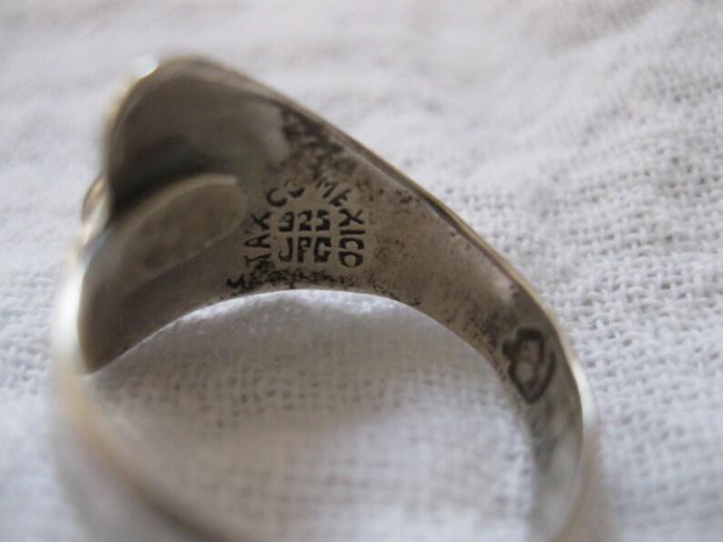 7ce98471355a Linda plata Taxco abulón mexicano abrigo ajustable anillo
