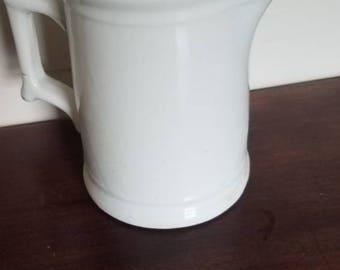 White vitrified China pitcher by Deitrick
