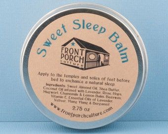 Sweet Sleep Balm with Lavender, Rose, Hops, Mugwort, Chamomile & Lemon Balm