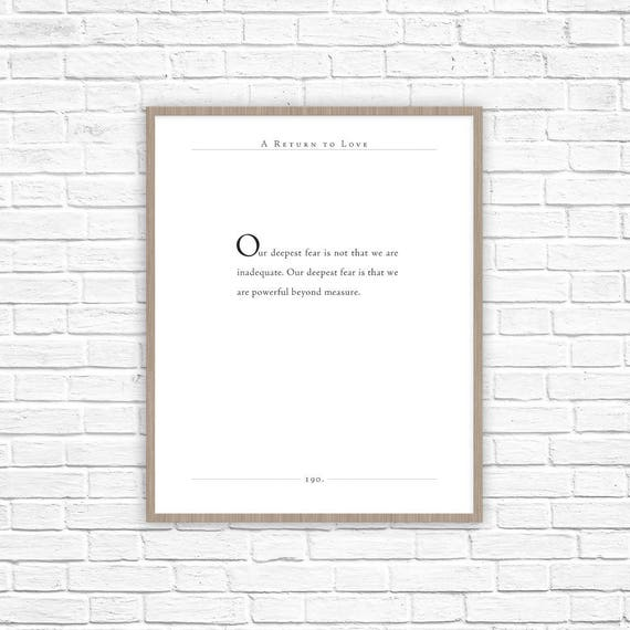 A Return To Love Quote Marianne Williamson Quote Nursery Etsy New A Return To Love Quotes