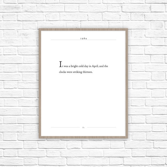 George Orwell Quote 1984 Print Animal Farm Classic Lit Etsy