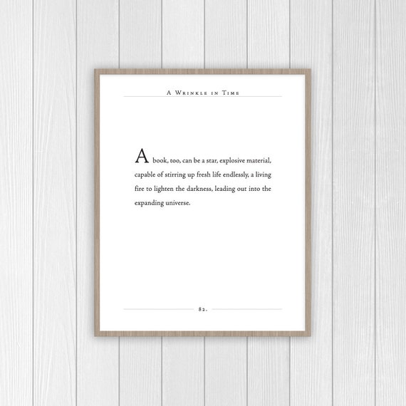 A Wrinkle In Time Quote Madeleine Lengle Print Etsy