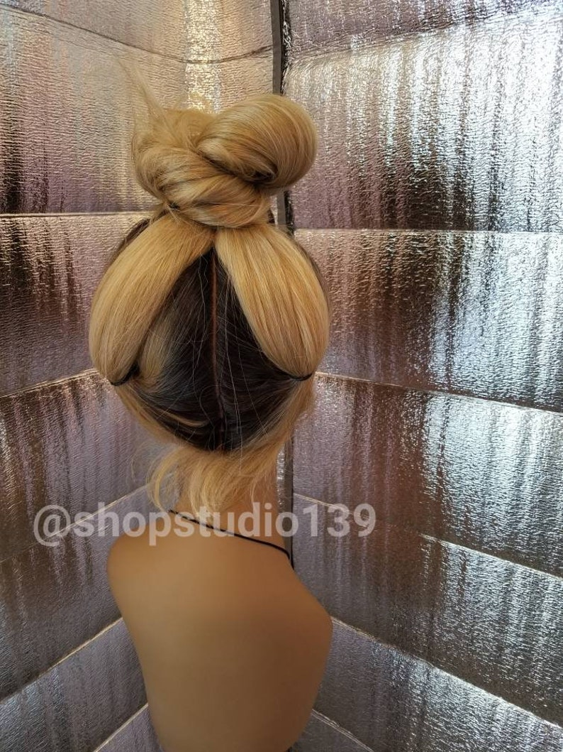Beautiful Honey blonde ombre lace front wig with muilt parting space