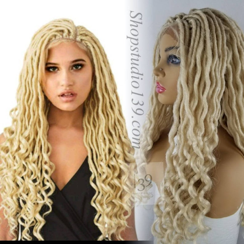 Blonde Faux Locs Lace Front Wig Perfect For All Skin Tones