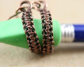 Copper Hoop Earrings, Hoop Earrings, Small Hoop Earrings, Hoop Earrings, Bohemian Earrings, Copper Hoops, Copper Hoop Earring #1854