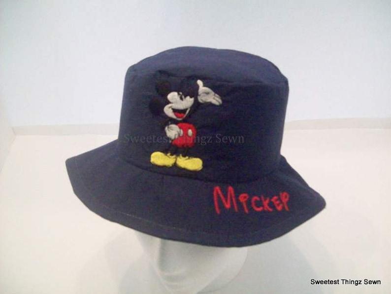 c77fc32adca Bucket Hat  Handmade Sun Hat  Mickey Mouse Hat  Disney Hat