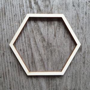 18 Wooden Hexagon Laser Cut Wooden Hollow Hexaagon Craft Hexagons Size 2cm to 20cm  3mm Plywood