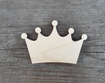 Wooden Door Hangers Crown Wooden Blanks Shape Blanks Crown Cutouts Princess Wooden Shapes PRINCESS CROWN Wooden Cutout Unfinished