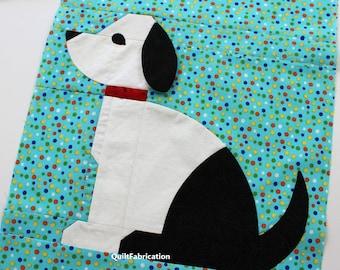 Good Dog, Quilt Block Pattern, Curved Piecing, Confident Beginner, PDF Download