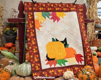Pumpkin Peek-a-Boo, Fall Wall Hanging, Easy Quilt Pattern