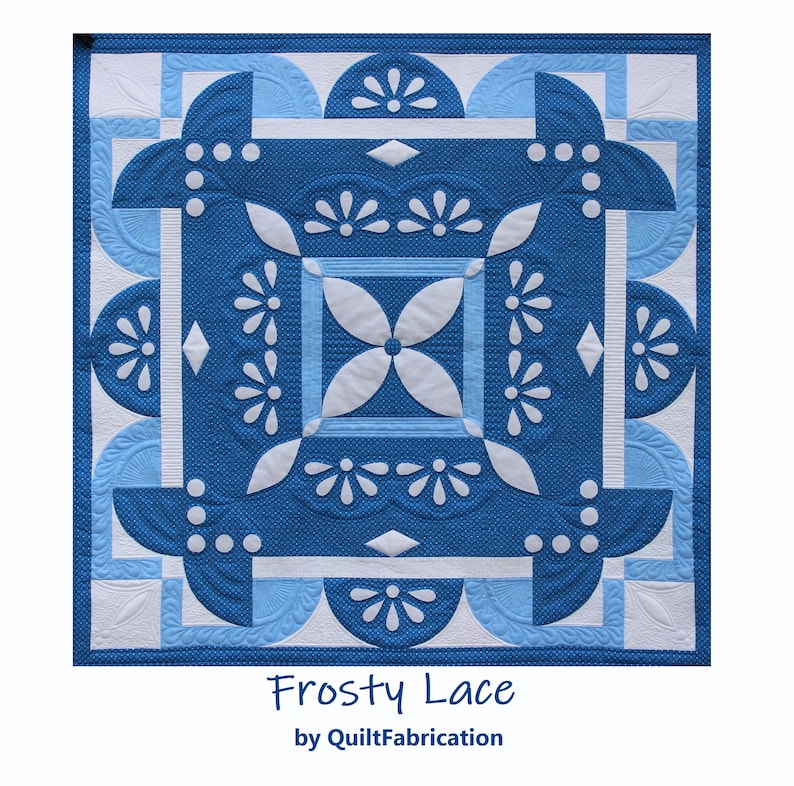 Frosty Lace Intermediate Quilt Pattern Wall Quilt Winter image 0