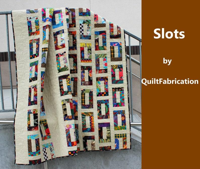 Slots Quilt Charm Square Scrap Guy Men Quilt Pattern image 0
