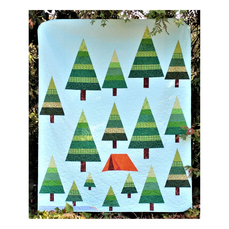 The Great Outdoors Intermediate PDF Download Camping Lap Quilt image 0