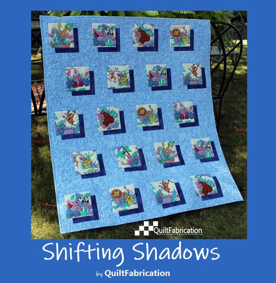 Easy Baby Quilt Pattern Shifting Shadows Beginner Quilt Etsy Gorgeous Easy Baby Quilt Patterns