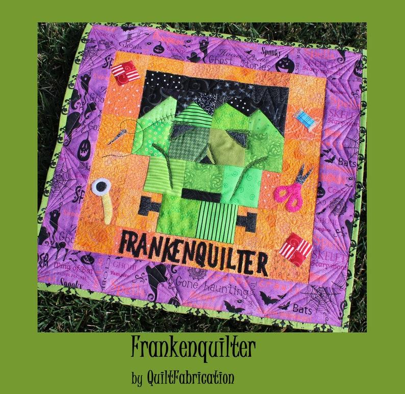 Frankenquilter Halloween Decor Quilt Pattern Frankenstein image 0