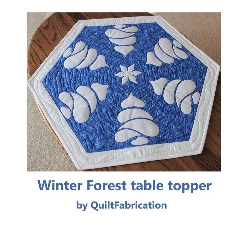 Winter Forest Table Topper Quilt Pattern Beginner Pattern image 0