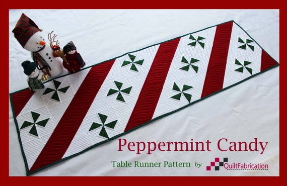 Christmas Runner Quilt Pattern.Peppermint Candy Table Runner Christmas Runner Quilt Pattern Instant Download Red Table Topper Holiday Decor Xmas Decor Modern