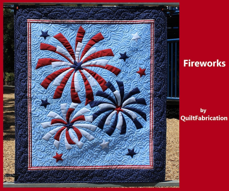 Fireworks Wall Hanging Fireworks Wall Art Fourth of July image 0