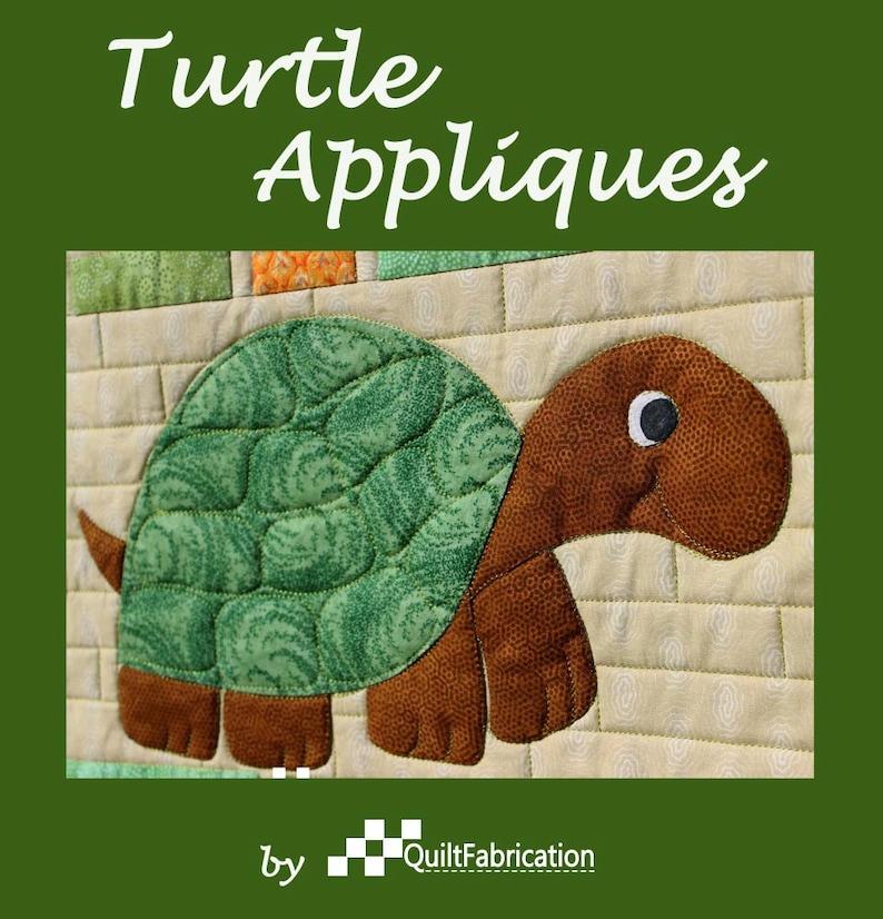 Turtle Pattern Quilt Pattern Reptile Applique Applique image 0
