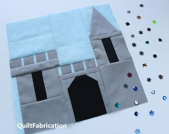 Castle Quilt Block, Fairy Tale Quilt Block, Easy Beginner, PDF Download Pattern