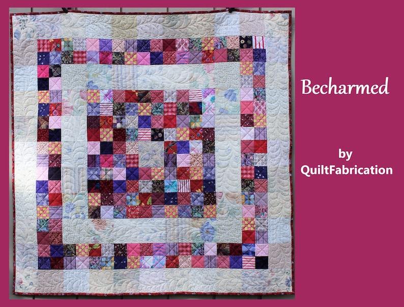 Becharmed Baby Quilt Scrap Quilt Beginner Quilt Charm image 0