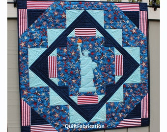 Liberty, Patriotic Wall Hanging, Easy Quilt Pattern, Instant PDF Download, Fourth of July Decoration
