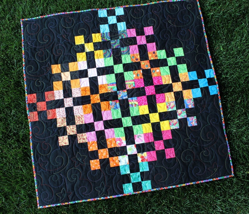 Burst Quilt Pattern Multi Size Modern Easy Fast Beginner Baby image 0