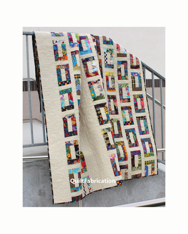 Slots Quilt Charm Square Scrap Quilt Pattern Modern Easy image 0