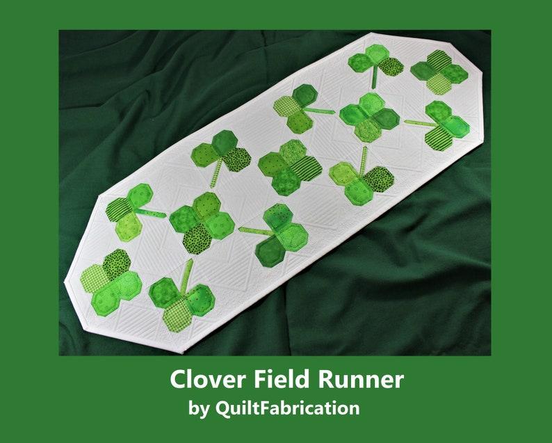 Clover Field Runner St Patrick's Day decor Spring decor image 0