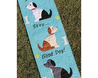 Doggone Good, Intermediate Dog Quilt Pattern, Wall Hanging, PDF Download