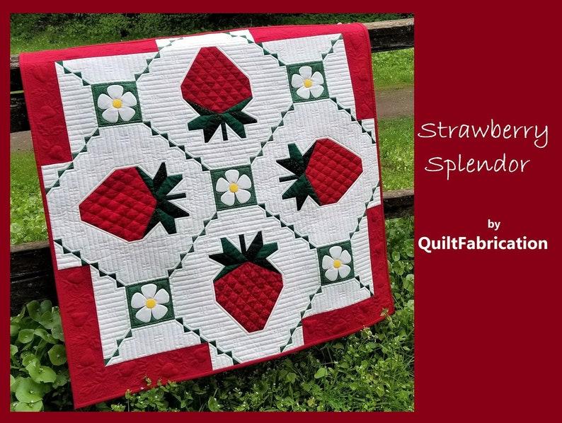 Strawberry Splendor Wall Hanging Quilt Pattern image 0