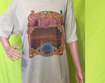 1970s San Francisco Tourist Tee, M-L