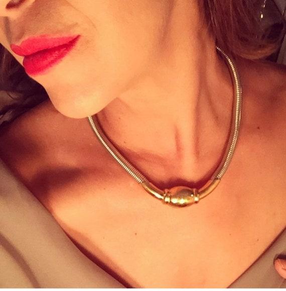 Statement ESTate piece. Monet silver toned necklac