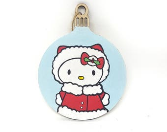 Hand-painted Christmas Bauble - Hello Kitty
