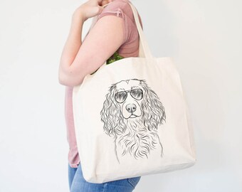 3b3e46292c6c Landry the Boykin Spaniel - Canvas Tote Bag - Dog Lover Gift, Doggy Bag,  Cool Dog Tote