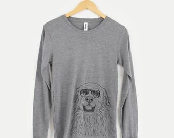 5c0c93559 Horton the Great Pyrenees - Long Sleeve Tri-Blend Unisex Crew Shirt Grey -  Dog Lover Gift