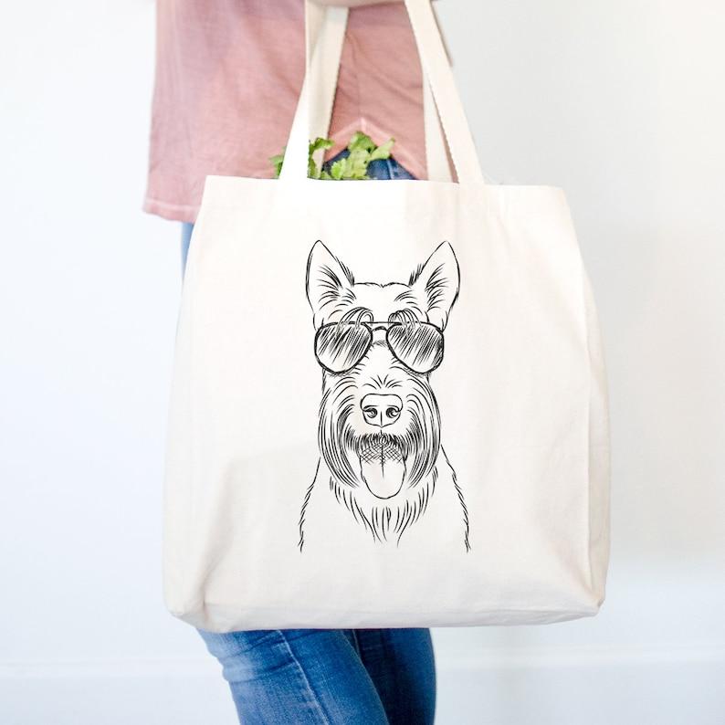 Oswald the Scottish Terrier Tote Bag Scottish Terrier Owner Gifts For Dog Owner