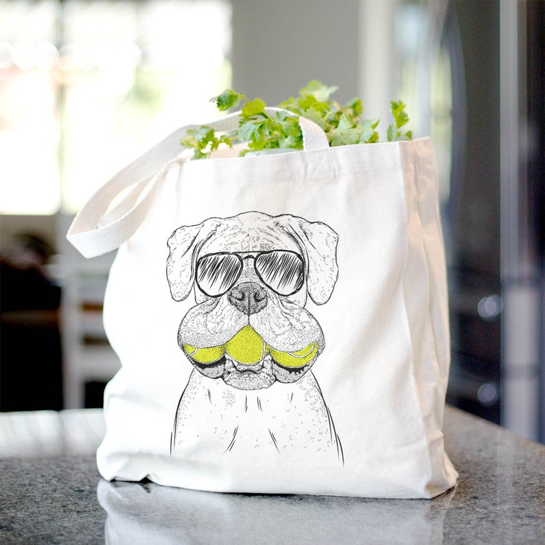 Dog Lover Gift Seamus the Boxer Cool Dog Tote Canvas Tote Bag Doggy Bag