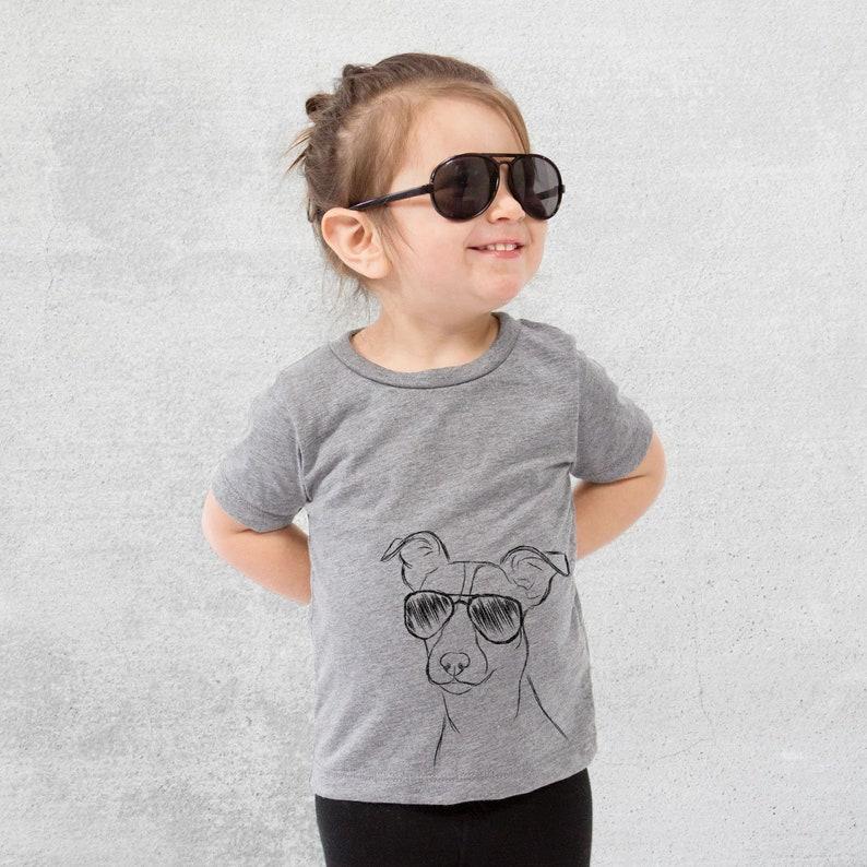da43b69bb9da6 Max the Jack Russell Terrier Dog Tri-Blend Shirt - Kids Dog Tshirt - Animal  Glasses T Shirt - Children Girl Boy Unisex Clothing