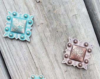 Beautiful Western Style Conchos for Leather and Wood