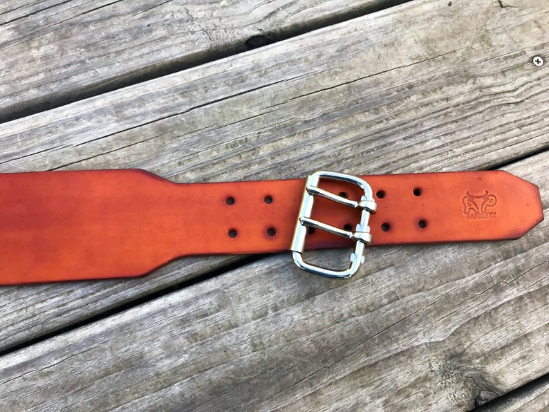 Thick Saddle Leather Custom 2-3 Heavy Duty Leather Work Belts
