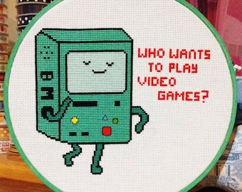 Adventure Time BMO Cross Stitch Pattern