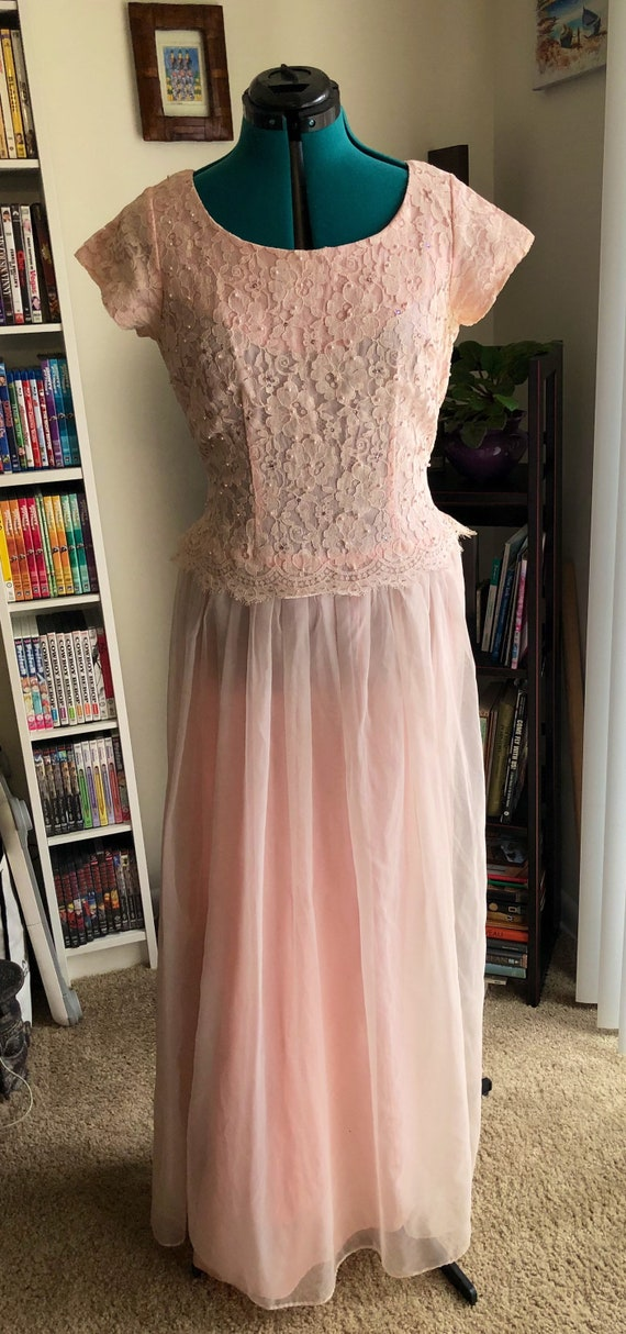 Late 1950's Pink Prom Dress - image 1