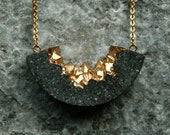Bingara contemporary ark pendant / necklace made from concrete and gold pigments