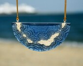 The Archipelago - Chunky statement necklace handmade from beach sand