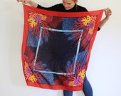 Splendour Scarf - Colourful coral scarf made from sustainable TENCEL™ fabric made from eucalyptus fibres