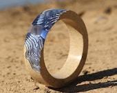 The Estuary - Chunky resin bangle handmade from beach sand and ultramarine blue resin